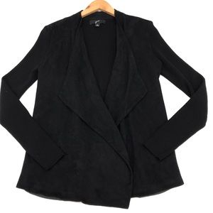 GNW Faux Suede Open Sweater Jacket